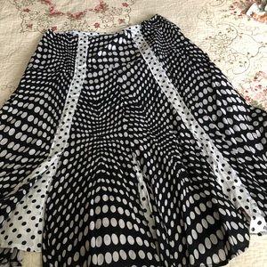 Dresses & Skirts - Black & white polka dot skirt